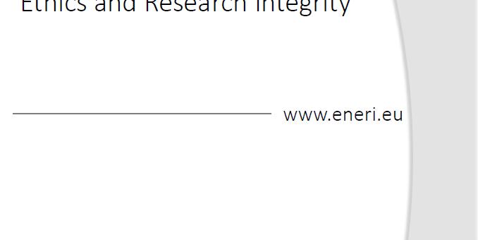 1st ENERI Newsletter